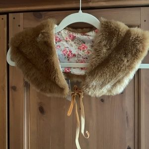 Faux Fur vintage collar scarf / neck warmer